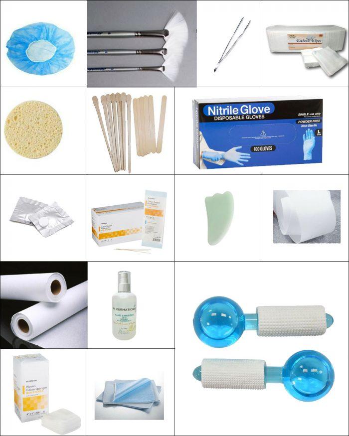 esthetician supply checklist